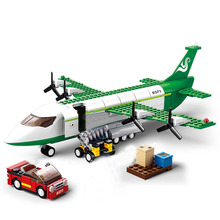 City Avion Technic Cargo Plane Airport Airbus Airplane Building Blocks Figures Legoingly Bricks Christmas Gifts Toys for Children цена