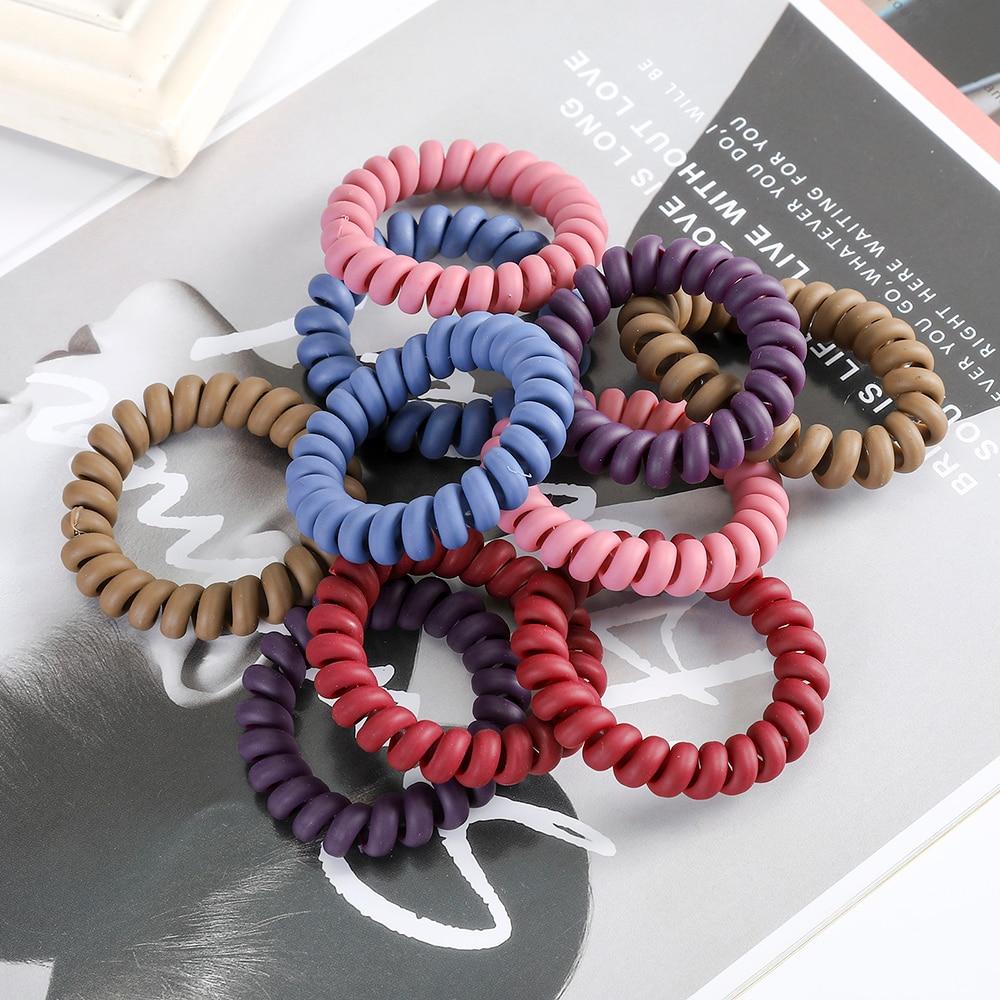Haimeikang 5/10 PCS Hair Ropes Women Ponytail Holder Scrunchies Rubber Band High Elastic Fashion Hair Tied Hair Accessories