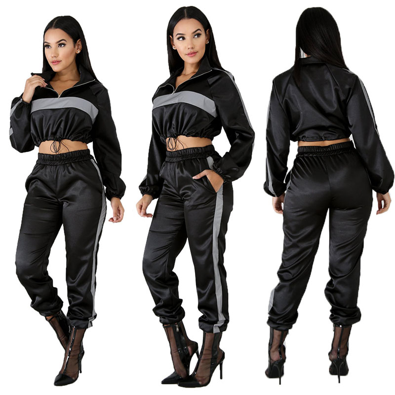 Autumn Two Piece Clothing Set For Women Tracksuit Sportwear Hoodie Crop Top Pant Outfits Sexy Clubwear 2 Piece Track Suit DG202