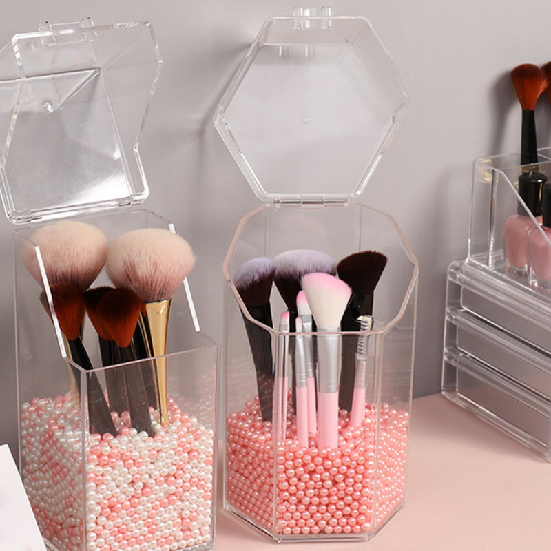 Transparent Organizer Makeup Holder Brush Storage BoxAcrylic Cosmetics Jewelry Office Supplies Business Card|Storage Boxes & Bins| |  - title=