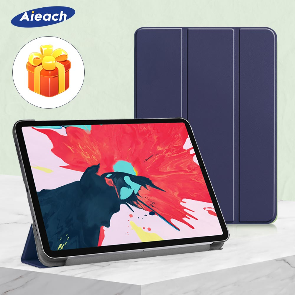 Aieach Leather Protective Case For IPad Pro 11 2020 2nd Generation Smart Cover Slim Magnetic Trifold Case For IPad Pro 12.9 4th