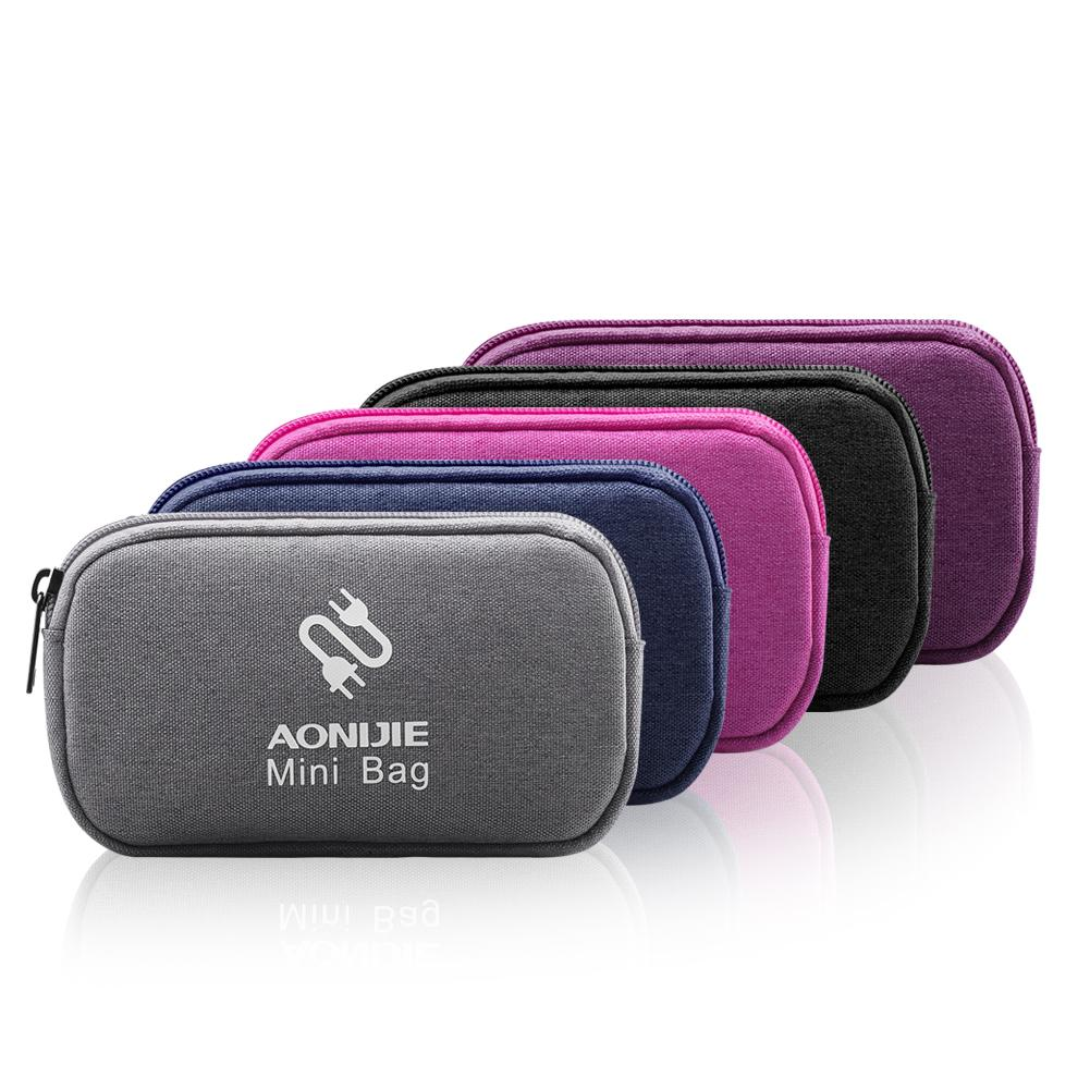 Data Cable Line Storage Bag Hard Drive Charger U Disk Headset Container Organized Bag Case Outdoor Travel Accessories