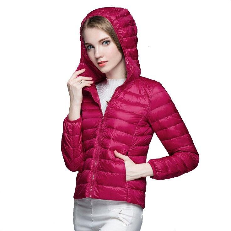 2019 New Light   Down   Jacket Ten Size Hooded Duck   Down   Ladies   Coat   Slim Large Size Women   Down     Coats   Jackets Warm Woman   Down   Parka