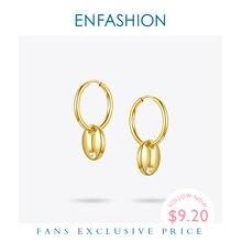 Женские серьги кольца enfashion Обручи из нержавеющей стали