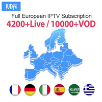 1 Year IUDTV PRO IPTV M3u Italia Spanish IP TV Greek Swedish Europe IPTV Code for Android M3u MAG25X Enigma2 IPTV Subscription