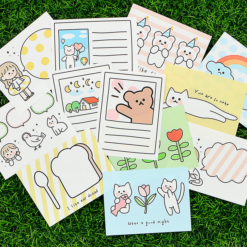 Mr Paper 4 Designs 30 Pcs Travel Fun Note Memo Pad Kawaii Stationery Notes Portable Notepad School Office Supply Papeleria