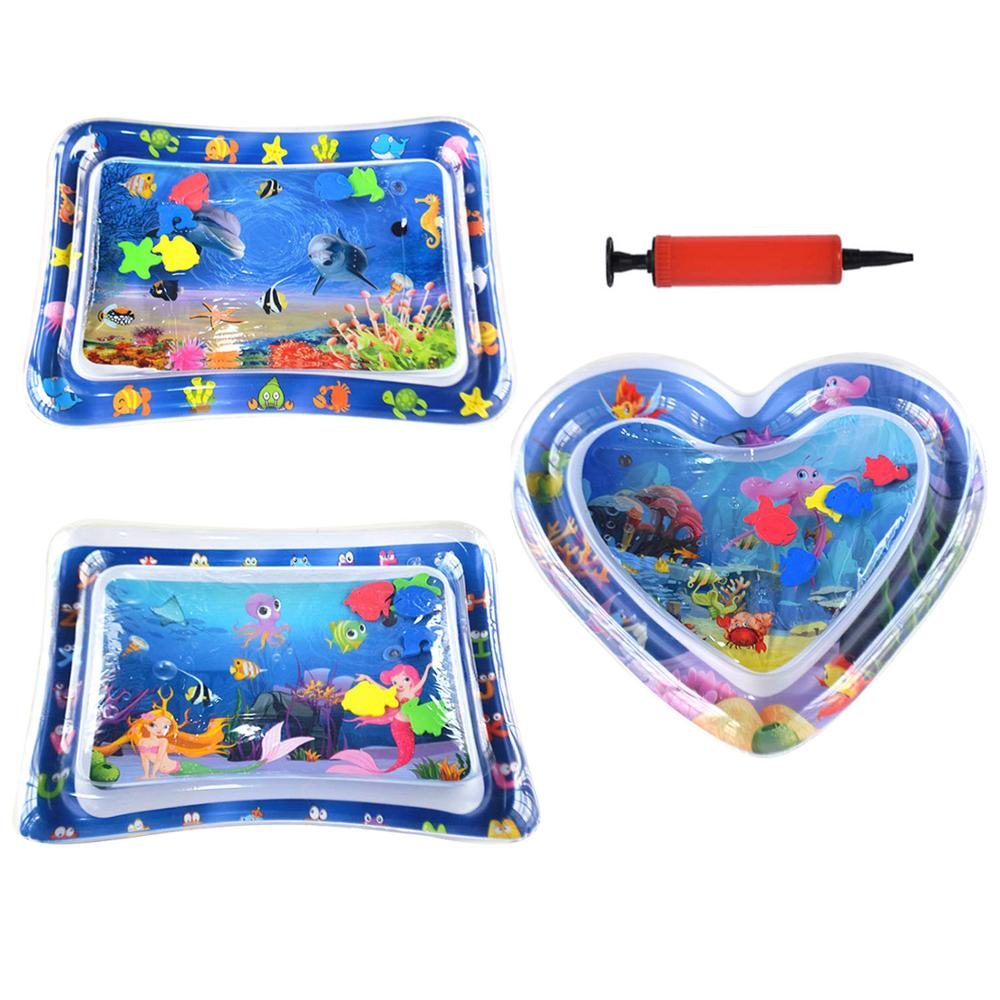 Inflatable Baby Kids Summer Water Play Mat Toys Thicken Safety Cushion Ice Mat For Toddler Fun Educational Activity Play Center