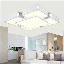 Светодиодный потолочный светильник прямоугольной формы для гостиной, потолочный светильник, современный минималистичный светильник для спальни, светильник из кованого железа
