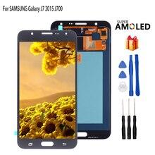 AMOLED для SAMSUNG Galaxy J7 ЖК-дисплей J700 J700F J700H J700M сенсорный экран дигитайзер Запасные части телефона инструменты