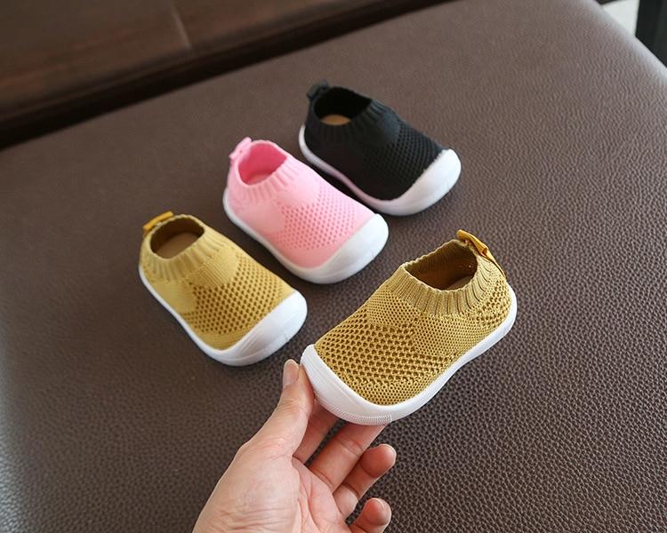 Enfant bébé premiers marcheurs chaussures respirant b infantile enfant en bas âge chaussures filles garçon chaussures en maille décontractées fond souple confortable chaussures antidérapantes