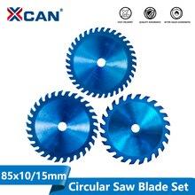 XCAN 1pc 85x1 0/15mm 24/30/36 Zähne TCT Holz Kreissäge Klinge Nano Blau Beschichtung Schneiden Disc hartmetall Sägeblatt