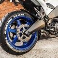 2020 ホワイトゴムオートバイステッカー 3D ロゴオートバイタイヤステッカークリエイティブホイールタイヤ Letterings ラベルデカール DIY スタイリング