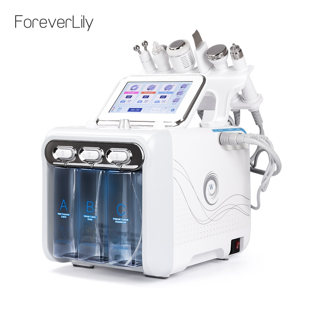 6 In 1 Water Dermabrasion Machine Deep Cleansing Machine Water Jet Hydro Diamond Facial Clean Dead Skin Removal For Salon Use