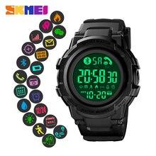 SKMEI LED Display Men Smart Watch Wristwatch Pedometer Chronograph Stop Call Reminder Sport Smartwatch Reloj inteligent