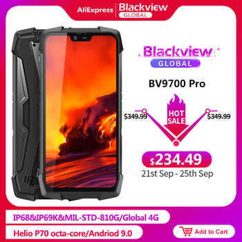 """Blackview BV9700 Pro IP68/IP69K Rugged Mobile Phone Helio P70 Octa core 6GB+128GB 5.84\"""" IPS 16MP+8MP 4G Face ID Smartphone - DISCOUNT ITEM  33 OFF Cellphones & Telecommunications"""