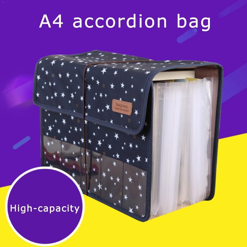 A4 File Organizer Portable Expandable Accordion 33.5*26cm Stationery Expanding Supplies Document Organiser Folder Oxford Fi G9O3