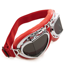 1Pcs Scooter Pilot Goggles Helmet Vintage Anti-UV Motorcycle Helmet Glasses Motocross Windproof Car-styling New Hot Selling Hot motorcycle atv riding scooter driving flying protective frame clear lens portable vintage helmet goggles glasses for 2009 buell xb12r
