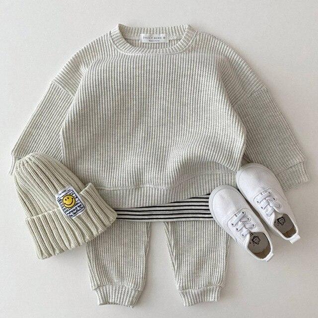 Cotton Loose Tracksuit Pullover 2PCS Set 2