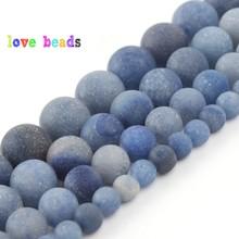 4/6/8/10/12mm Natural Matte Blue Aventurine Jades Stone Round Beads for Jewelry Making DIY Bracelet 15 Perles Minerals Beads 4 6 8 10 12mm matte blue sandstone round beads natural stone beads for jewelry making diy bracelet 15 perles minerals beads