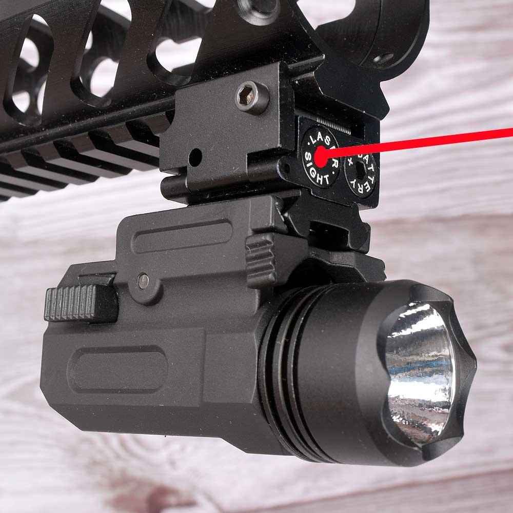 Red Dot Laser Sight Tactical Airsoft Handgun Flashlight Combo LED Tactical Gun Torch for 20mm Rail Glock 17 19 18C 24 P226-0