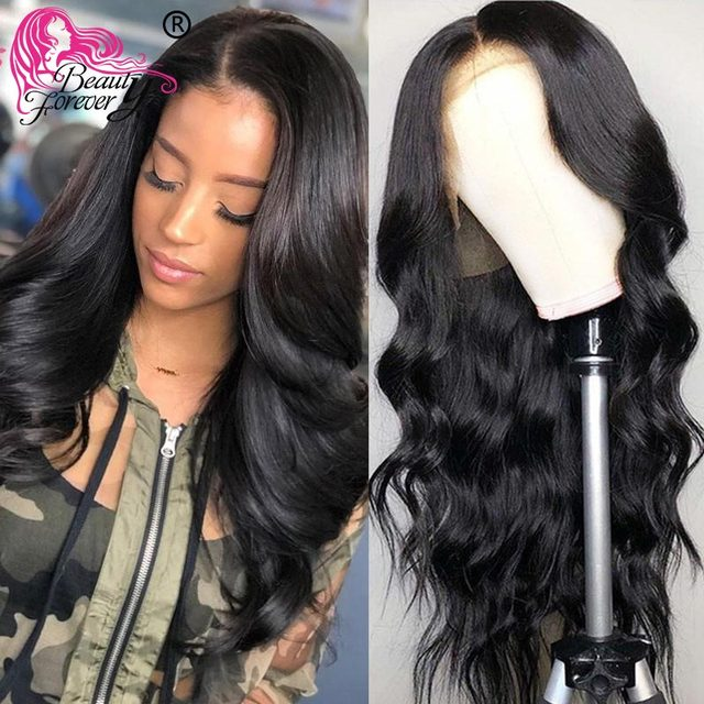 $ US $121.50 Beauty Forever Brazilian Body Wave glueless Full Lace Wigs Pre Plucked Swiss Lace 150% & 180% Density full 100% Remy Hair Wig
