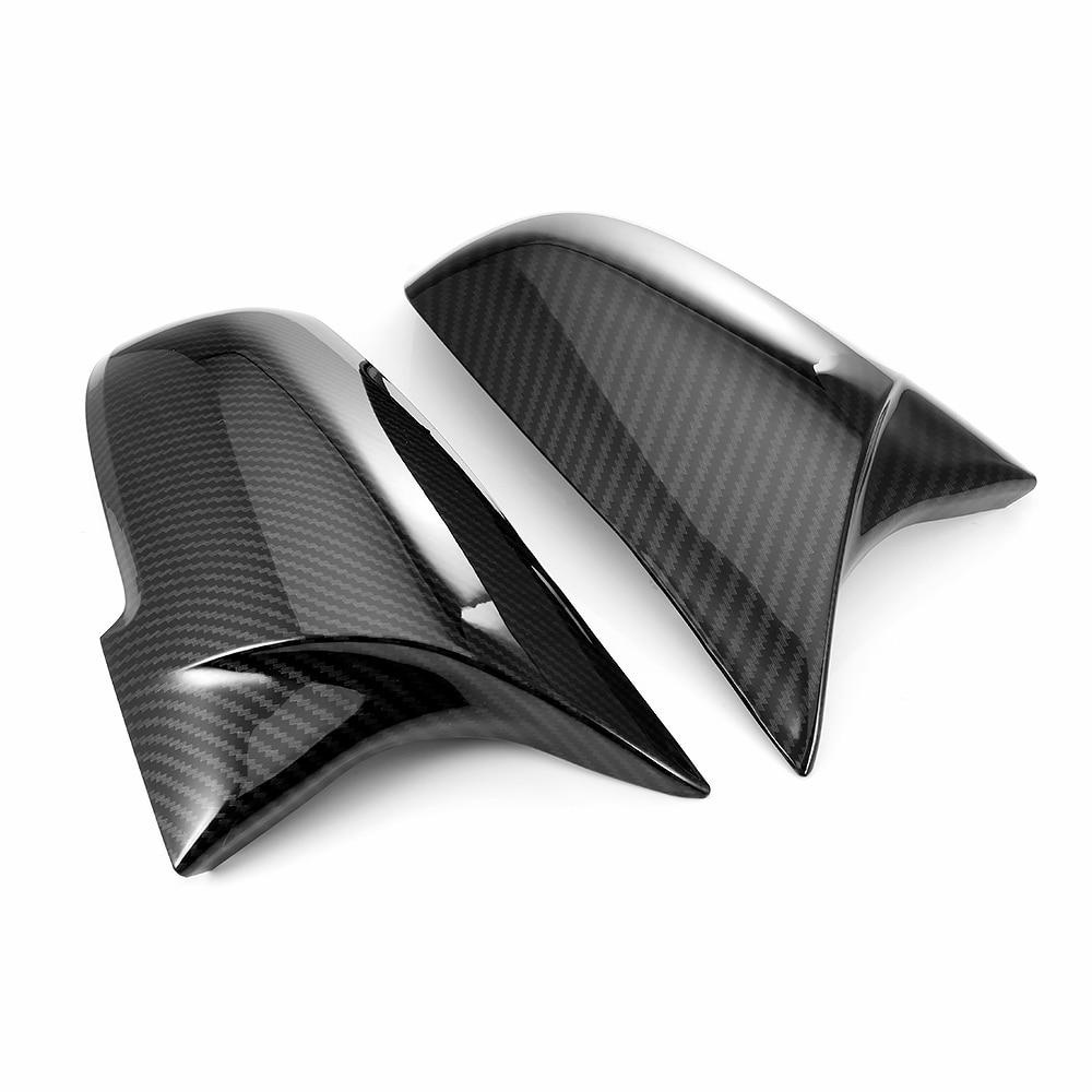 2 Pieces Rearview Mirror Cover Cap Carbon Black For BMW Series 1 2 3 4 X M 220i 328i 420i F20 F21 F22 F23 F30 F32 F33 F36 X1