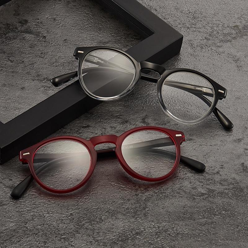 Iboode Retro Fashion Ultralight PC Women Men Reading Glasses Full Frame Optical Spectacle Clear Lens Presbyopic Eyeglasses 2020