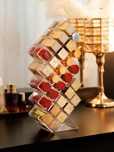Image 5 - 28 Grids Acrylic Makeup Organizer Storage Box Cosmetic Lipstick Jewelry Box Case Holder Display Stand Make Up Organizer