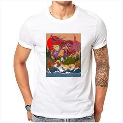 Luo Xin Casual Manica Corta 'Animale Pattern' Che Basa La Camicia T-Shirt da Uomo di Un Modello di Dimensioni 41.99
