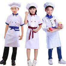 Children's Little Chef Uniform Kindergarten Chef  Overalls Children's Chef Clothes Costume Kawaii Kitchen Chef Wear