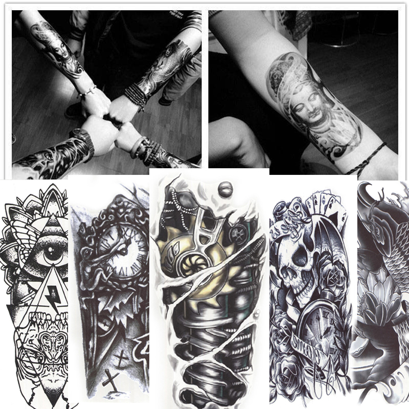 12 Sheets 3d Waterproof Body Art Tattoo Sticker Handsome Tatouage Glitter Black Temporary Flash Henna Tattoos For Man Women Henna Tattoo For Men Art Tattootattoo For Men Aliexpress
