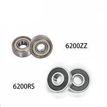 1Pc Diepgroefkogellager 6200 6201 6202 6203 6204 6205 6206 2RS Zz Rubber Afgedicht Lager Staal Miniatuur dragende Metalen