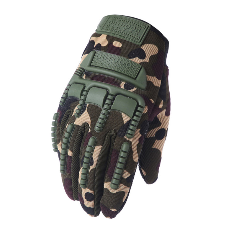 Tactical Army Military Gloves Paintball Airsoft Shot Soldier Combat Police Anti-Skid Bicycle Full Finger Gloves Men Luva Tatica