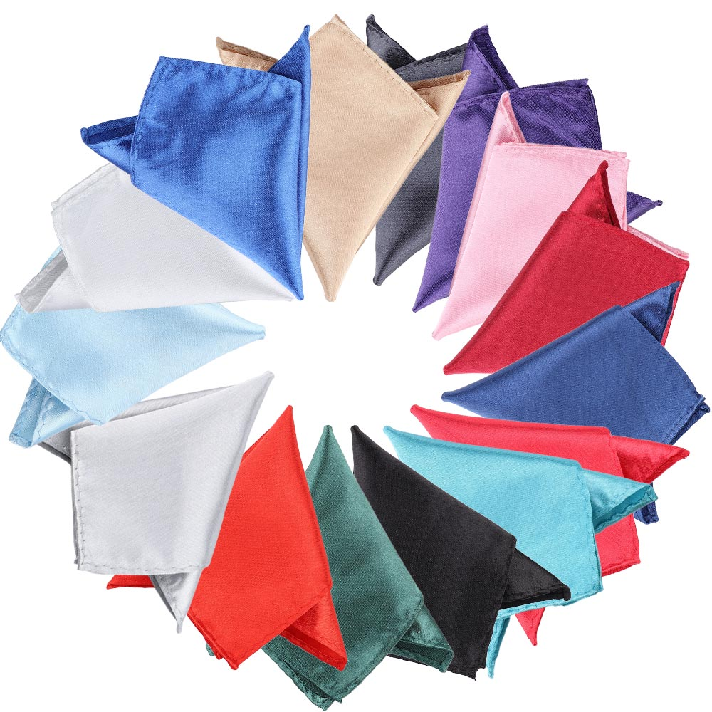 Men's Handkerchief 15 Colors Solid Color Vintage Fashion Party High Quality Groomsmen Men Pocket Square For Wedding Business