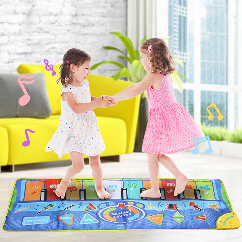3 Types Big Size Music Piano Carpets & Multiple Musical Instruments Sounds Play Mat Educational Toys For Kids Gift