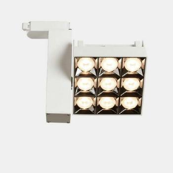 Składane 360 ° obrócone kąt lampy LED na szynę 12W 24W LED sufitowe lampy punktowe AC85 ~ 265V LED lampy W tle oświetlenie wewnętrzne tanie i dobre opinie GSKGYXGS Żarówki led ART DECO Oświetlenie toru 3years Awaryjne 12W 24W 27W Klin ROHS Pokrętło przełącznika 11-98