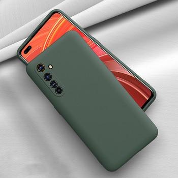 Перейти на Алиэкспресс и купить Для OPPO Realme 6 Pro 6 6S X50 Pro X50 X2 XT чехол с жидким силиконовым карамельным покрытием для защиты камеры Мягкий матовый противоударный чехол