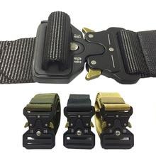 Военный Тактический нейлоновый ремень с металлической пряжкой Регулируемый армейский полицейский открытый быстросъемный тренировочный ремень для охоты ширина 3,8 см 4,3 см