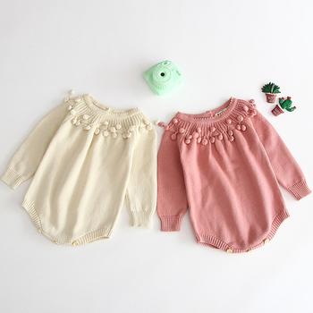 Nowy 2019 dziewczyny z dzianiny pajacyki noworodków dziewczynek chłopiec pajacyki maluch kombinezon dla niemowląt ubrania dla niemowląt chłopiec ogólnie dzieci strój tanie i dobre opinie campure COTTON GEOMETRIC Dziecko dziewczyny Pełna O-neck B93H40 Dla dzieci Pasuje prawda na wymiar weź swój normalny rozmiar