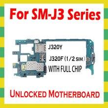 Samsung Galaxy J3 J320Y J320F orijinal Unlocked anakart Android temiz anakart ile tam kilidini ana mantık kurulu