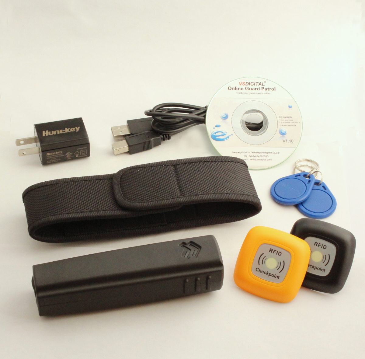 Free Shipping,RFID V1 Guard Patrol Monitoring System Cloud Based Software ,20 Outdoor Checkpoint Tag,4 Guard ID Tags