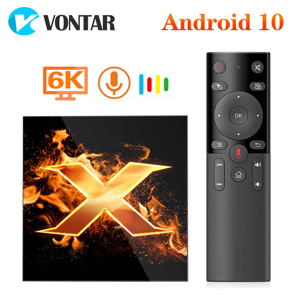 2020 Vontar X1 Tv Box Andriod 10 4G 64Gb Tvbox Ondersteuning 6K 2.4G & 5G wifi Ac Google Voice Assistent BT5.0 Netflix Media Player