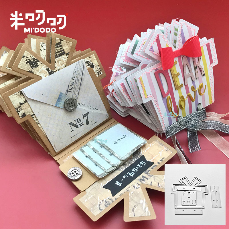 Metal Cutting Dies Christmas Birthday Gift Album Scrapbooking Paper Craft Knife Mould Blade Fustelle New Craft Deis For 2019