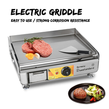 GZZT Electric Griddle With Shovel Stainless Steel IT-412 BBQ Grill Temperature Control Fast Heat CE 220v commercial stainless steel all flat grill griddle bbq plate electric contact grillplate