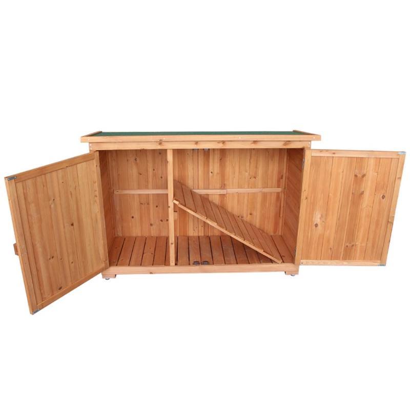 Fir Wooden Garden Yard Shed Lockers