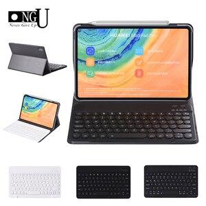 Bezprzewodowy futerał na klawiaturę do Huawei Matepad Pro 10.8 2019 MRX-W09/W19/AL09/AL19 Tablet skórzany pokrowiec stojak na klawiaturę Bluetooth