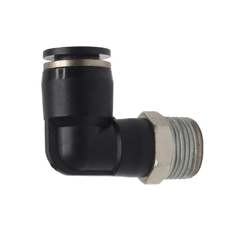 أسود النحاس النيكل تصفيح تركيب هوائي الكوع PL4-01 PL6-M5 PL6-01 PL8-02 10-02 الهواء موصل الخرطوم الهواء التجهيزات الهوائية