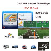 Akcesoria GPS 16G mapy gps karta sd 2019 najnowsza mapa dla WinCE nawigacja samochodowa GPS mapa europa rosja USA CA AU izrael nawigacja samochodowa gps mapa tanie tanio XEOWYN