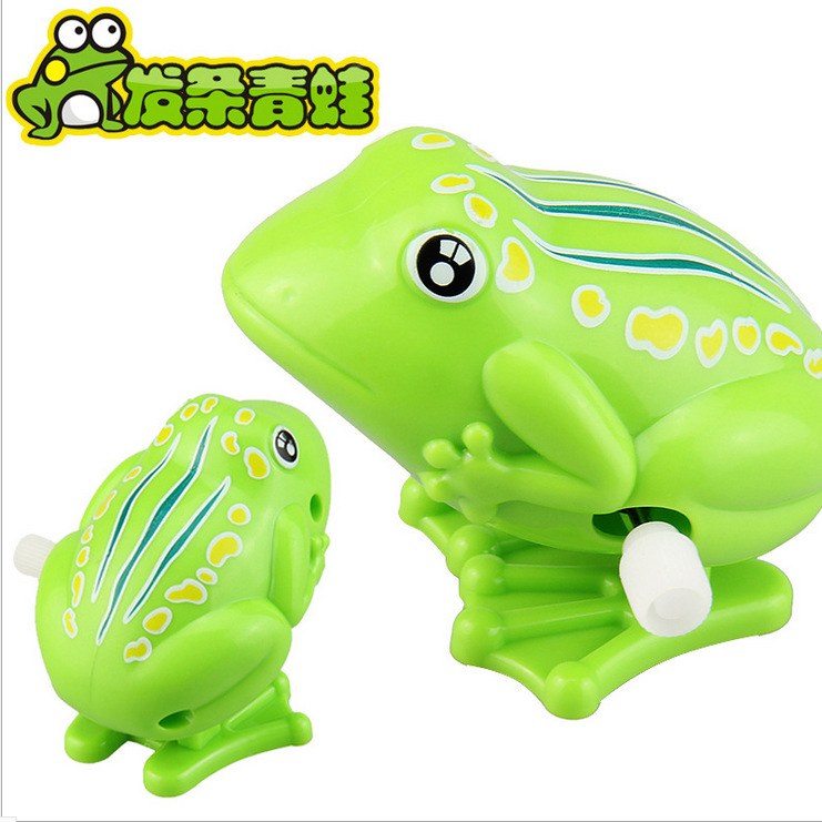Winding Frog, Plastic Spring Frog Winding Bouncing Frogs Classic Stall Toy