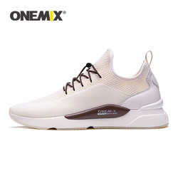 ONEMIX Men Tennis Shoes Slip On Breathable Classics Style Jogging Shoes Gym Fitness Trainer Tenis Man Sneakers Sport Shoes